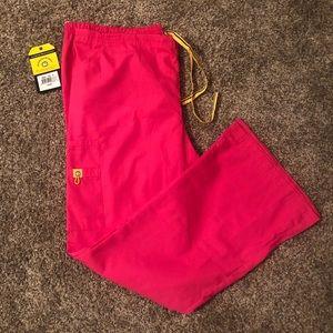 NWT WonderWink Scrubs ORIGINS Romeo Pants, Pink